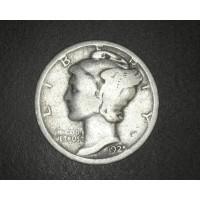 1925-D MERCURY DIME 10c G4