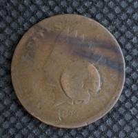 1873 Op3 INDIAN CENT 1c AG/G