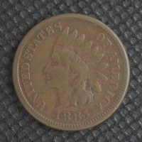 1885 INDIAN CENT 1c VF20