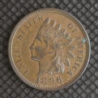 1896 INDIAN CENT 1c MS61