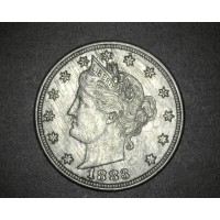 1883 No Cents LIBERTY NICKEL 5c (Nickel) AU50