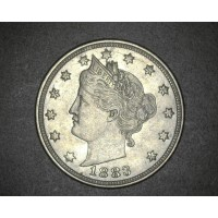 1883 No Cents LIBERTY NICKEL 5c (Nickel) AU53