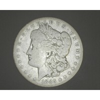 1885-CC MORGAN DOLLAR $1 VG8