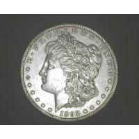1893-CC MORGAN DOLLAR $1 AU50