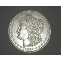 1901-S MORGAN DOLLAR $1 AU55