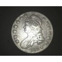 1824 CAPPED BUST HALF DOLLAR 50c VF20