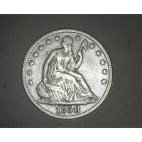 1858-O LIBERTY SEATED HALF DOLLAR 50c F18