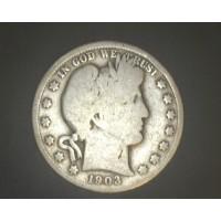 1903-O BARBER HALF DOLLAR 50c G4