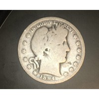 1894-O BARBER HALF DOLLAR 50c G4