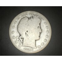 1896-S BARBER HALF DOLLAR 50c G/AG