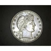 1892 BARBER HALF DOLLAR 50c MS63 P/L