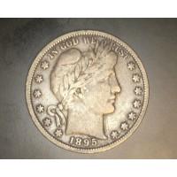 1895 BARBER HALF DOLLAR 50c VF20
