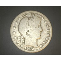 1902-O BARBER HALF DOLLAR 50c G4