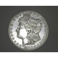 1896-S MORGAN DOLLAR $1 AU58