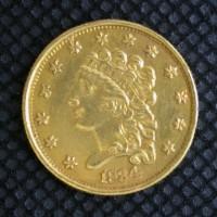 1834 CLASSIC HEAD $2 50 GOLD $2.50 MS60
