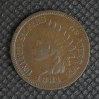 1884 INDIAN CENT 1c VF20