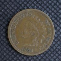 1881 INDIAN CENT 1c F15