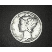 1929-D MERCURY DIME 10c G4
