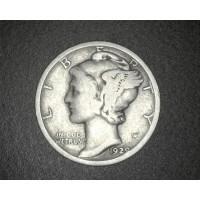 1929-D MERCURY DIME 10c G6