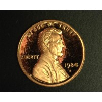 1984-S LINCOLN MEMORIAL CENT 1c PF65+ DCam