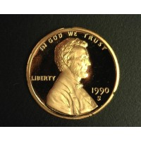 1990-S LINCOLN MEMORIAL CENT 1c PF65 DCam
