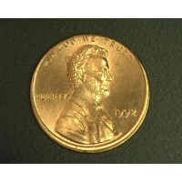 1992 LINCOLN MEMORIAL CENT 1c MS64 RD