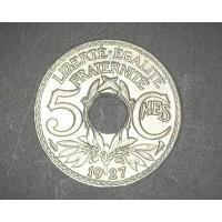FRANCE, 1927 5 Centimes MS63 KM875
