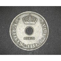 NORWAY, 1924 10 Ore AU50 KM383
