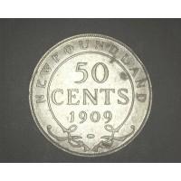 CANADA, 1909 50c VF20 KM11