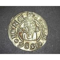 HUNGARY, 1586 Denar VF35 KMMB260