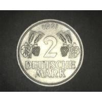 GERMANY, 1951D 2 Mark AU50 KM111
