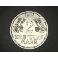 GERMANY, 1951J 2 Mark AU53 KM111