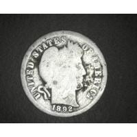 1892 BARBER DIME 10c G/AG