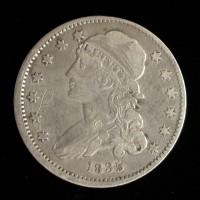 1835 w/Period CAPPED BUST QUARTER DOLLAR 25c VF30