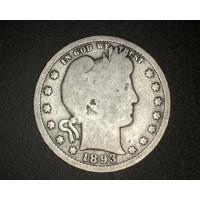 1893 BARBER QUARTER DOLLAR 25c G4