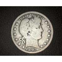 1893-O BARBER QUARTER DOLLAR 25c G5