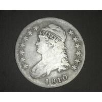 1810 CAPPED BUST HALF DOLLAR 50c F12