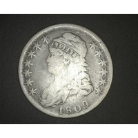 1809 CAPPED BUST HALF DOLLAR 50c F12