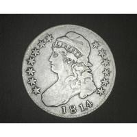 1814 CAPPED BUST HALF DOLLAR 50c F18