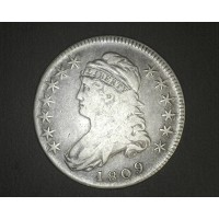 1809 IIII Edge CAPPED BUST HALF DOLLAR 50c VF20