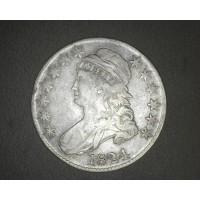1824 CAPPED BUST HALF DOLLAR 50c VF35