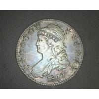 1829 CAPPED BUST HALF DOLLAR 50c VF30
