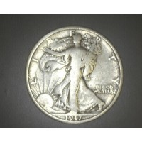 1917-S Rev WALKING LIBERTY HALF DOLLAR 50c VG9
