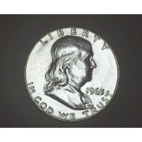1963 FRANKLIN HALF DOLLAR 50c MS60