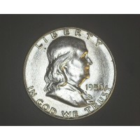 1950 FRANKLIN HALF DOLLAR 50c AU58