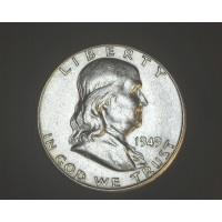 1949-S FRANKLIN HALF DOLLAR 50c AU55