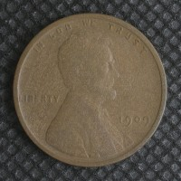 1909 VDB LINCOLN WHEAT CENT 1c F12
