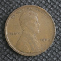 1909 VDB LINCOLN WHEAT CENT 1c F18
