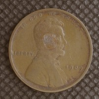 1909 LINCOLN WHEAT CENT 1c VG10
