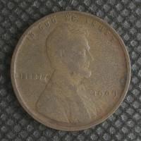 1909 LINCOLN WHEAT CENT 1c F12